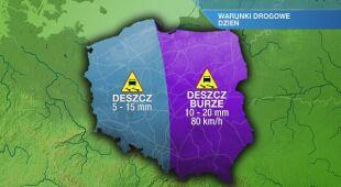Warunki drogowe w poniedziałek 25.05